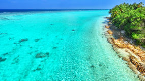 Shoreline of a tropical island Royalty Free Stock Photography
