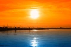 Shoreline at twilight Royalty Free Stock Photo
