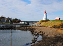 Shoreline View, Mulholland Lighthouse, NB, Canada Stock Images