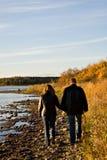 Shoreline Walk Stock Image