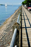 Shoreline walk Stock Images