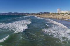 Shoreline waves Stock Image