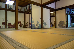 Shoren in tatami room. Inside view of Shoren in tatami room Royalty Free Stock Photography