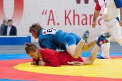 Shorena Sharadze vs Katsiaryna Prakapenka (R) (b) Fotografia Stock