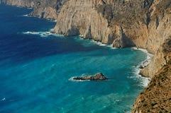 Kefalonia shores. Shores of Kefalonia in the Ionian sea royalty free stock photography