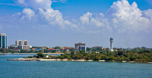Shores of Dar es Salaam. The shores of the Indian Ocean in Dar es Salaam, Tanzania, Africa Royalty Free Stock Photography