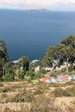The shores of Isla del Sol. The shores of the Island of Isla del Sol in on the Bolivian side of Lake Titicaca royalty free stock image