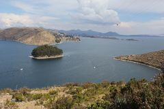 The shores of Isla del Sol. The shores of the Island of Isla del Sol in on the Bolivian side of Lake Titicaca royalty free stock photos