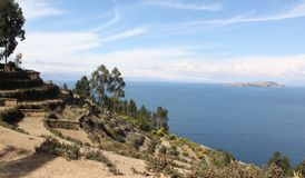 The shores of Isla del Sol. The shores of the Island of Isla del Sol in on the Bolivian side of Lake Titicaca stock photography