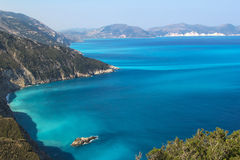 Shores of island Kefalonia in the Ionian sea Stock Image