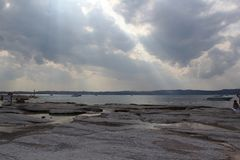 Shores of Lake Garda Royalty Free Stock Photo