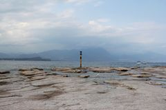 Shores of Lake Garda. The shores of Lake Garda, near Sirmione on the south of the lake Royalty Free Stock Photography