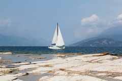 Shores of Lake Garda. The shores of Lake Garda, near Sirmione on the south of the lake Royalty Free Stock Image