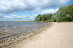 The shores of lake Seliger Royalty Free Stock Photo