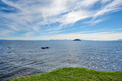 On the shores of Lake Taupo in New Zeland Royalty Free Stock Photo