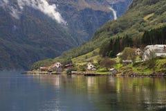 Shores of the Naeroyfjord Stock Photos