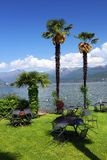 STRESA, ITALY - 11MAY, 2018 - summer scene Stresa, famous resort on the western shore of Maggiore Lake Stock Images