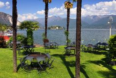 STRESA, ITALY - 11MAY, 2018 - summer scene Stresa, famous resort on the western shore of Maggiore Lake Royalty Free Stock Photos