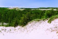 Shores Superior Lake, Michigan, USA. Beautiful dunes on the shore Superior Lake, Michigan, USA royalty free stock image