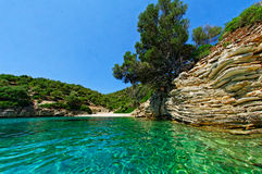 Shores of Zakynthos. Island in the Ionian sea royalty free stock photography