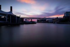 Shoreway桥梁-克利夫兰,俄亥俄 免版税库存图片