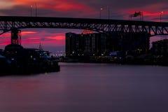 Shoreway桥梁-克利夫兰,俄亥俄 免版税库存照片