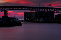 Shoreway-Brücke - Cleveland, Ohio lizenzfreie stockfotos