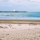 Shorncliffe Pier in the late afternoon Royalty Free Stock Photo