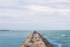 Shorncliffe Pier in the late afternoon Stock Photography