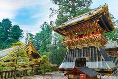 Shoro - uma torre de sino no santuário de NIkko Toshogu em Japão imagens de stock