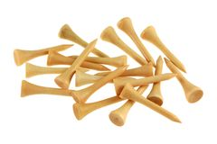 Short Bamboo Golf tees Stock Images