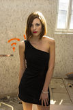 Short Black Dress royalty free stock image