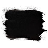 Short black thick brush stroke Stock Photography