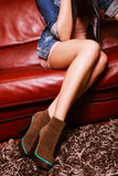 Short boots Stock Photo