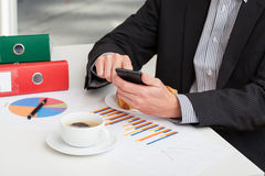 Short break for coffee at work Royalty Free Stock Photos
