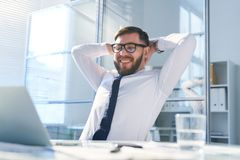 Short break by workplace stock photos