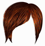 Short brown hairs fringe Stock Photography