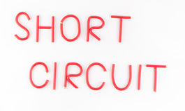 Short circuit wire word Stock Photography