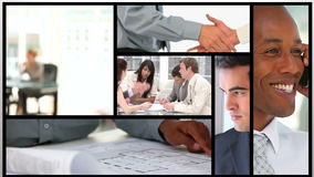 Short clips of business people working stock video