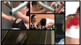 Short clips about people in the gym Royalty Free Stock Image