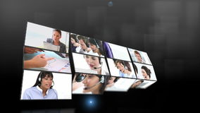Short clips showing call center employees