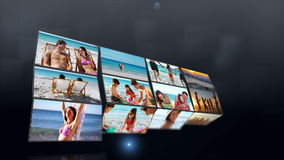 Short clips showing people on the beach Royalty Free Stock Photo