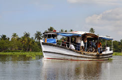 Short distance boat ferry Kerala India Stock Photo