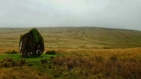 Maen LliaStanding Stone Brecknock, PowysNearest town: BreconNearest village: Ystradfellte Royalty Free Stock Photo