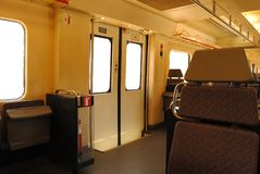 A short distance train interior royalty free stock images