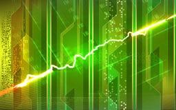 Short do cabo elétrico - circuito ilustração royalty free