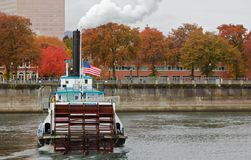 Short DOF Paddle Boat. Short depth of field image of the back of a paddle boat steamer on the Williamette river in Portland Royalty Free Stock Photography