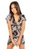 Asian woman wears short dress Stock Image