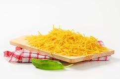 Short egg noodles Stock Photos