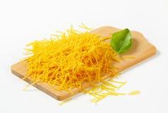 Short egg noodles Stock Images